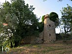 Old building with a tower near La Foresta - Rieti